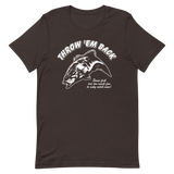 Bass fishing t shirt with smallmouth bass jumping design and text.