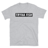 Women's fishing t shirt with urban-styled text design.