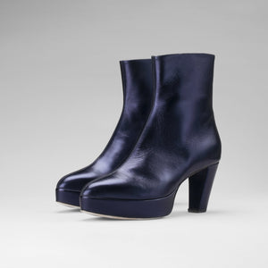 Donna High Heels - Blue Laminato
