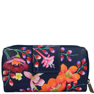 Zip Around Clutch Wallet With Front Organizer - 1120