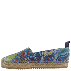 ANIKA PRINTED LEATHER ESPADRILLE LOAFER - 4204