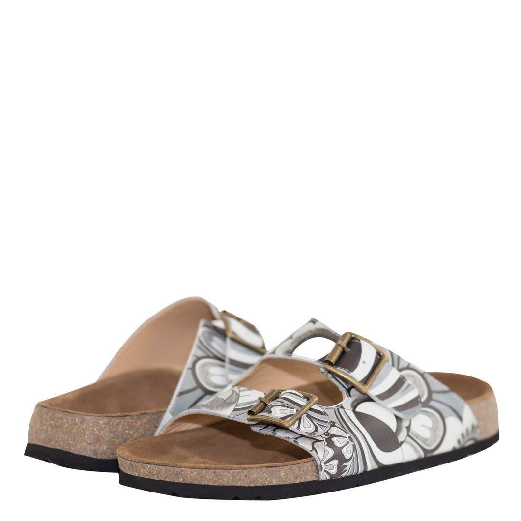 KYRA PRINTED LEATHER SANDAL - 4211