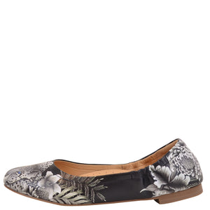 NATALIE PRINTED LEATHER BALLET FLAT - 4221