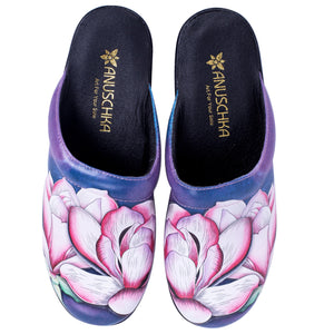 REBECCA PRINTED LEATHER SLIP-ON CLOG - 4225