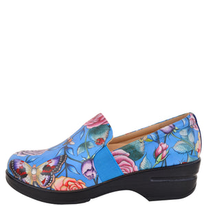 LUCY PRINTED LEATHER SLIP-ON CLOG - 4235