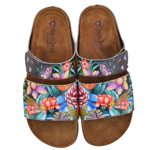 ASHLEY PRINTED LEATHER SANDAL - 4238