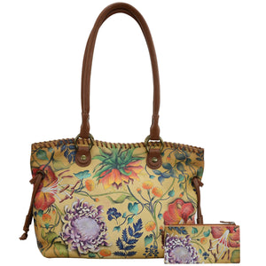 Double Handle Large Tote With Magnetic Closure - 569
