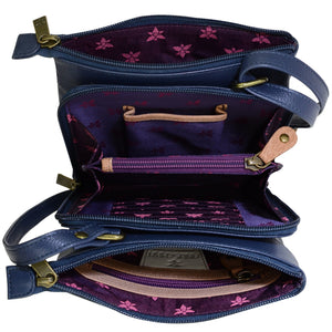 RFID Blocking Triple Compartment Travel Organizer - 596