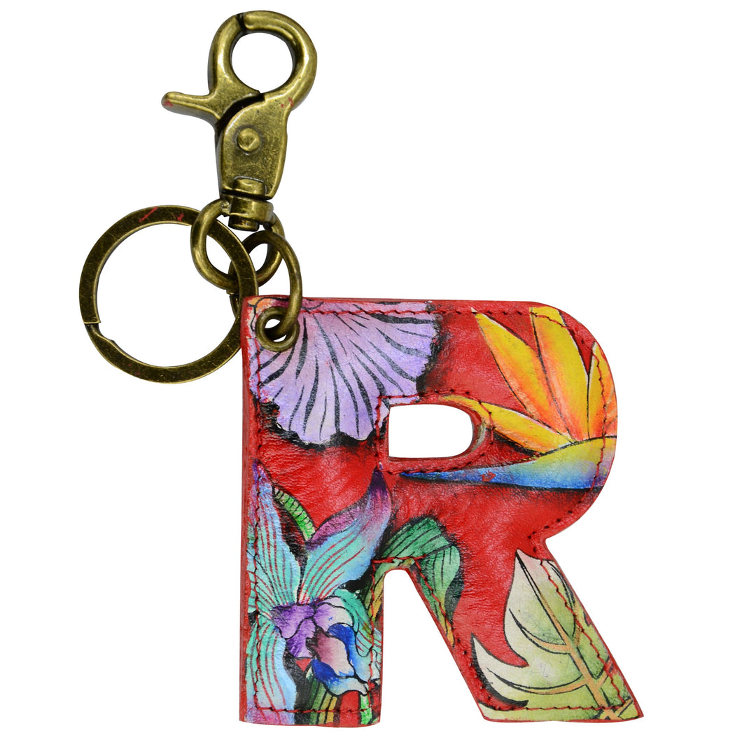 Painted Leather Bag Charm - K000R