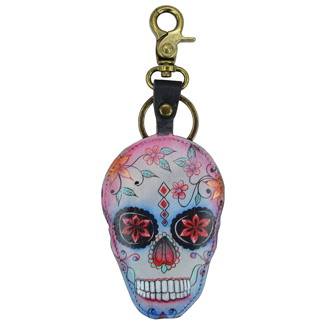 Painted Leather Bag Charm - K0018