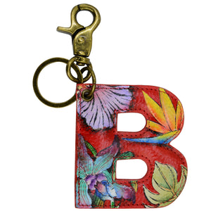 Painted Leather Bag Charm - K000B