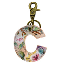 Load image into Gallery viewer, Painted Leather Bag Charm - K000C
