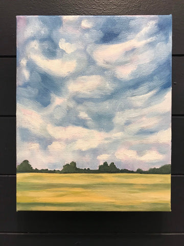 "Original landscape painting- ""Porterfield Road Wheat Fields"" - oil on canvas (8x10"")"