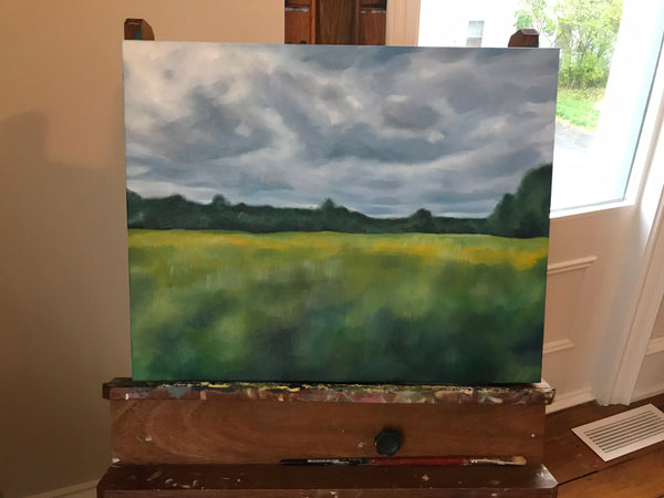"Bright original landscape painting - ""Change."" Oil on gallery style canvas- 16x 20""- Caledon, Ontario"