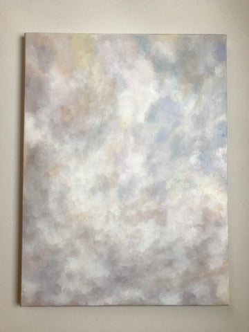 "Large cloud oil painting - ""Passing By."" - cloudscape- Oil on canvas (18x24"")"