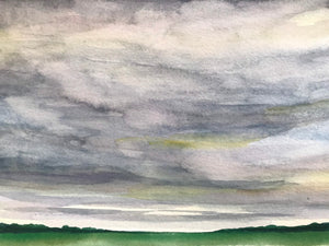 "Stormy watercolour landscape- ""May Storm""- watercolour on paper (5x7"")"