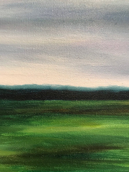 "Original oil landscape painting- ""Of course we knew."" - Oil on canvas (14x18"")"