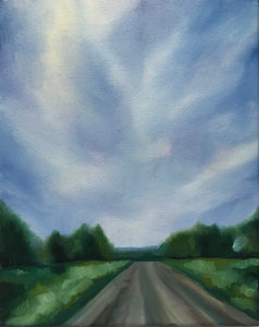 "Original summer sideroad oil painting- ""Hope""- Local landscape - oil on canvas (8x10"")"