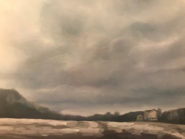 "Original oil painting- ""November Snow, Caledon Farm.""- Oil on Canvas (11x14"")"