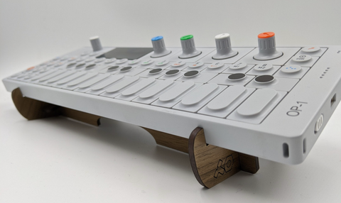 Best OP-1 Stand in Walnut Plywood for the OP-1 Synthesizer, Sequencer, Sampler from Teenage Engineering