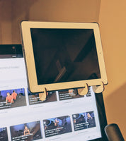 Phone & iPad Holder for PELOTON Bike - Watch other content or video chat with friends while riding!