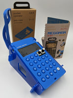 Teenage Engineering Mega Man Pocket Operator Bundle - FREE CUSTOM STAND with PO-128 and Blue Case
