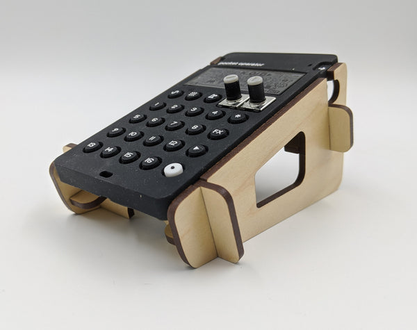 Pocket Operator Wood Stand - Single - Angled - for all Teenage Engineering PO models