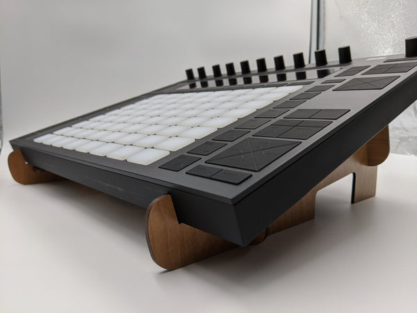 Desktop Studio Stand for Ableton Push 2 or Push 1, good for studio devices from 12 - 20 inches wide