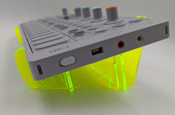 Fluorescent Acrylic OP-1 Angled Desktop Stand - for Teenage Engineering OP-1 Device