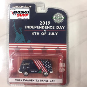Greenlight 2019 Independence Day 4th of July - Volkswagen T2 Panel Van