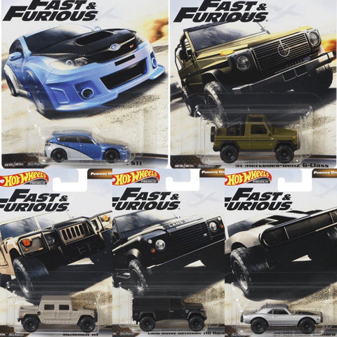 Hot Wheels Fast & Furious Mix D