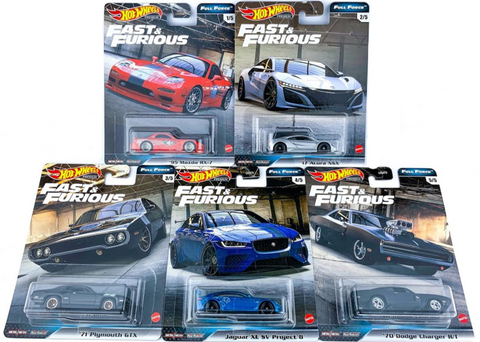 Hot Wheels FAST & FURIOUS FULL FORCE H  (SET OF 5)