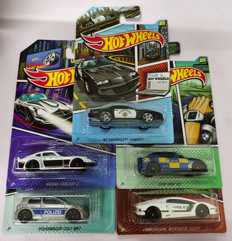 HOT WHEELS POLICE 2020 SERIES ( SET OF 5)