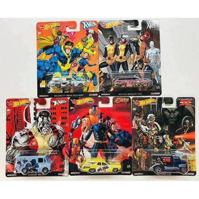 HOT WHEELS (2019) POP CULTURE X-MEN SERIES (1 Set of 5 Cars)