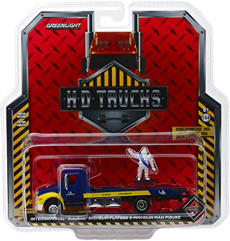 Greenlight HD Trucks Michelin Flatbed & Michelin Man Figure