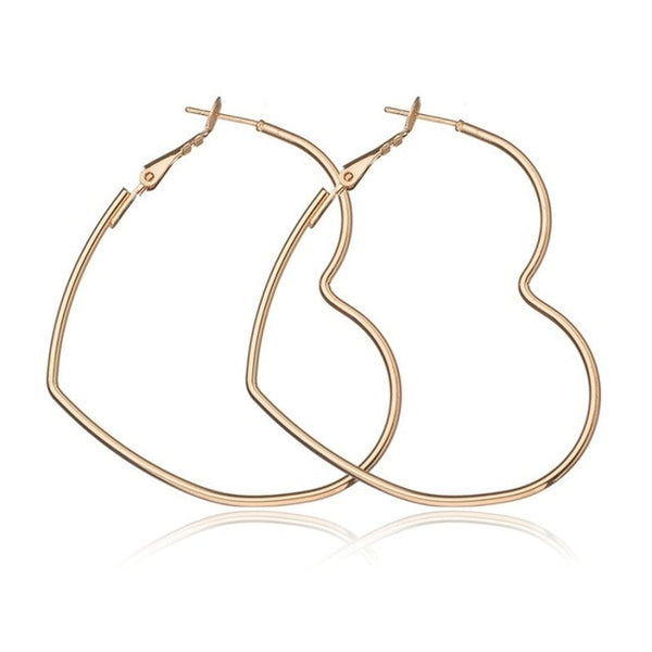 40mm 60mm 70mm 80mm Exaggerate Big Smooth Circle Hoop Earrings Brincos Simple Party Round Loop Earrings for Women Jewelry