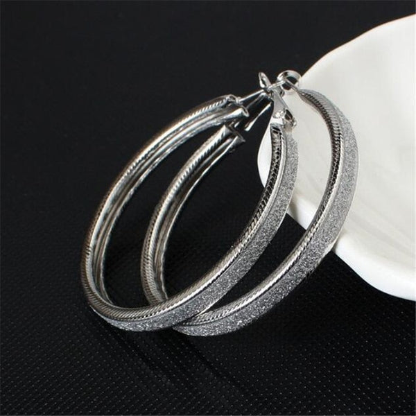 Trendy Fashion Metal Elegant Hoop Earring Woman 2020 New Vintage Gold Color Cheap korean Statement Earrings Accessories brincos