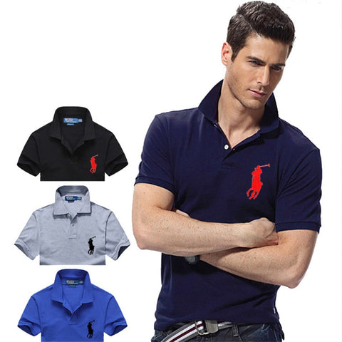 RALPH- LAUREN- New Original Brand Polo Shirt  Summer Short Sleeve Fashion Clothing 100% Tee Shirt