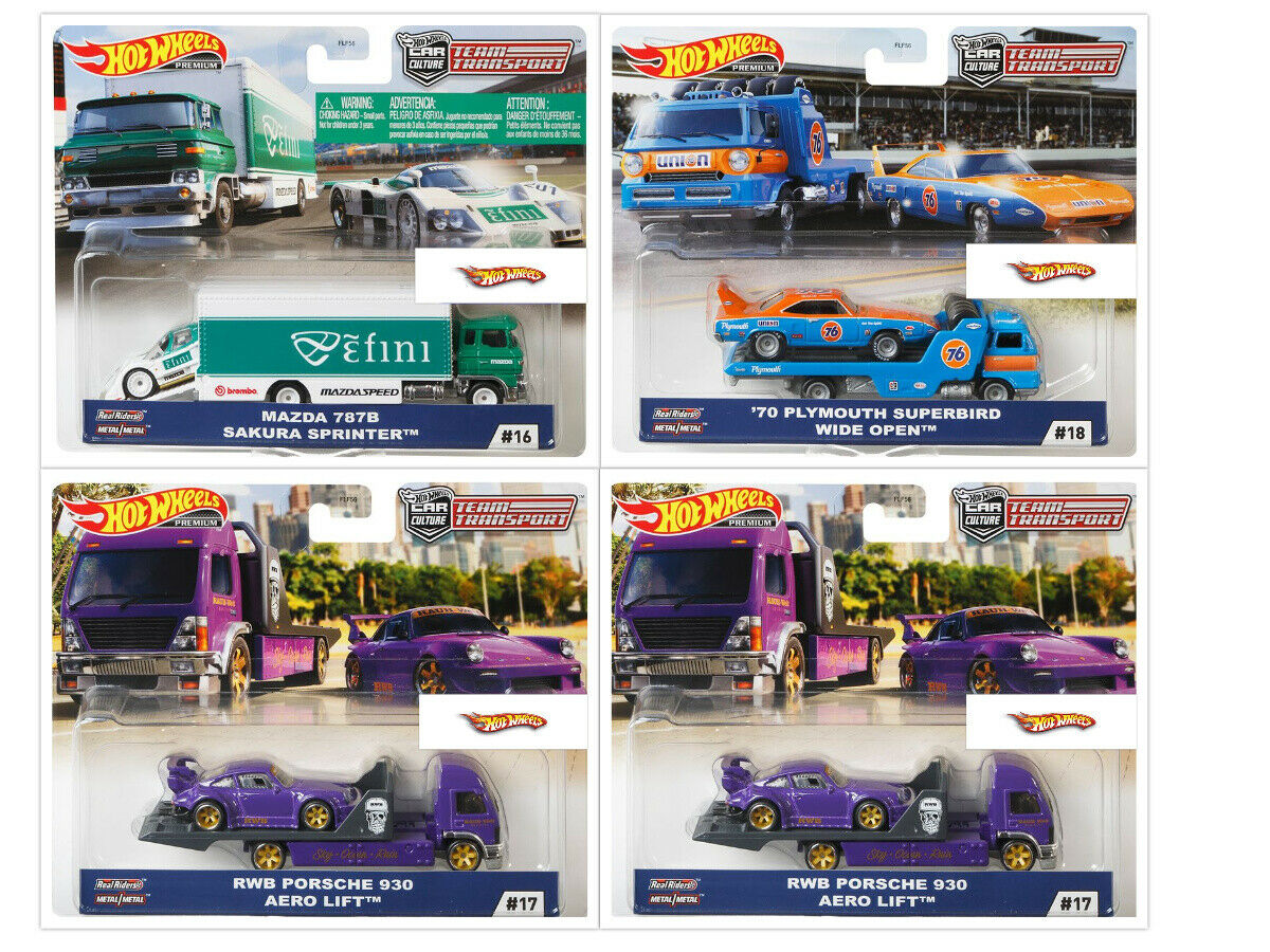Hot Wheels Team Transport Mix G (Case of 4 Cars)