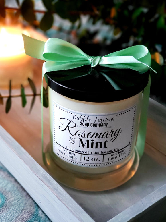 Rosemary & Mint Boutique Candle