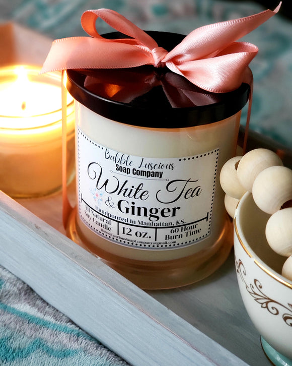 White Tea & Ginger Boutique Candle
