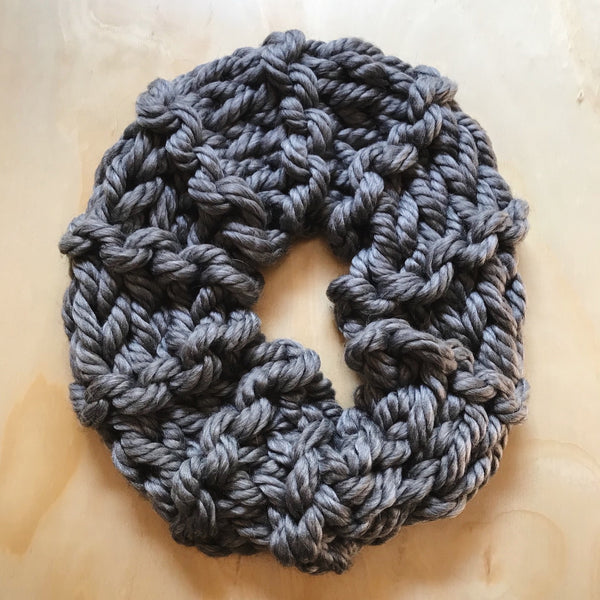 Table knit chunky cowl or scarf