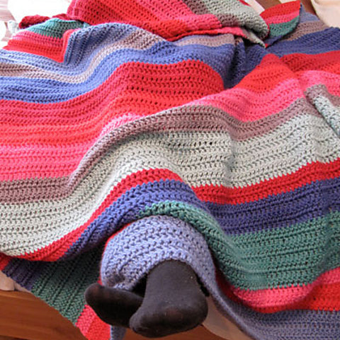 Crochet color block blanket