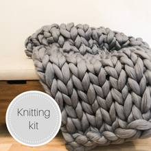 Load image into Gallery viewer, Chunky knit wool blanket kit