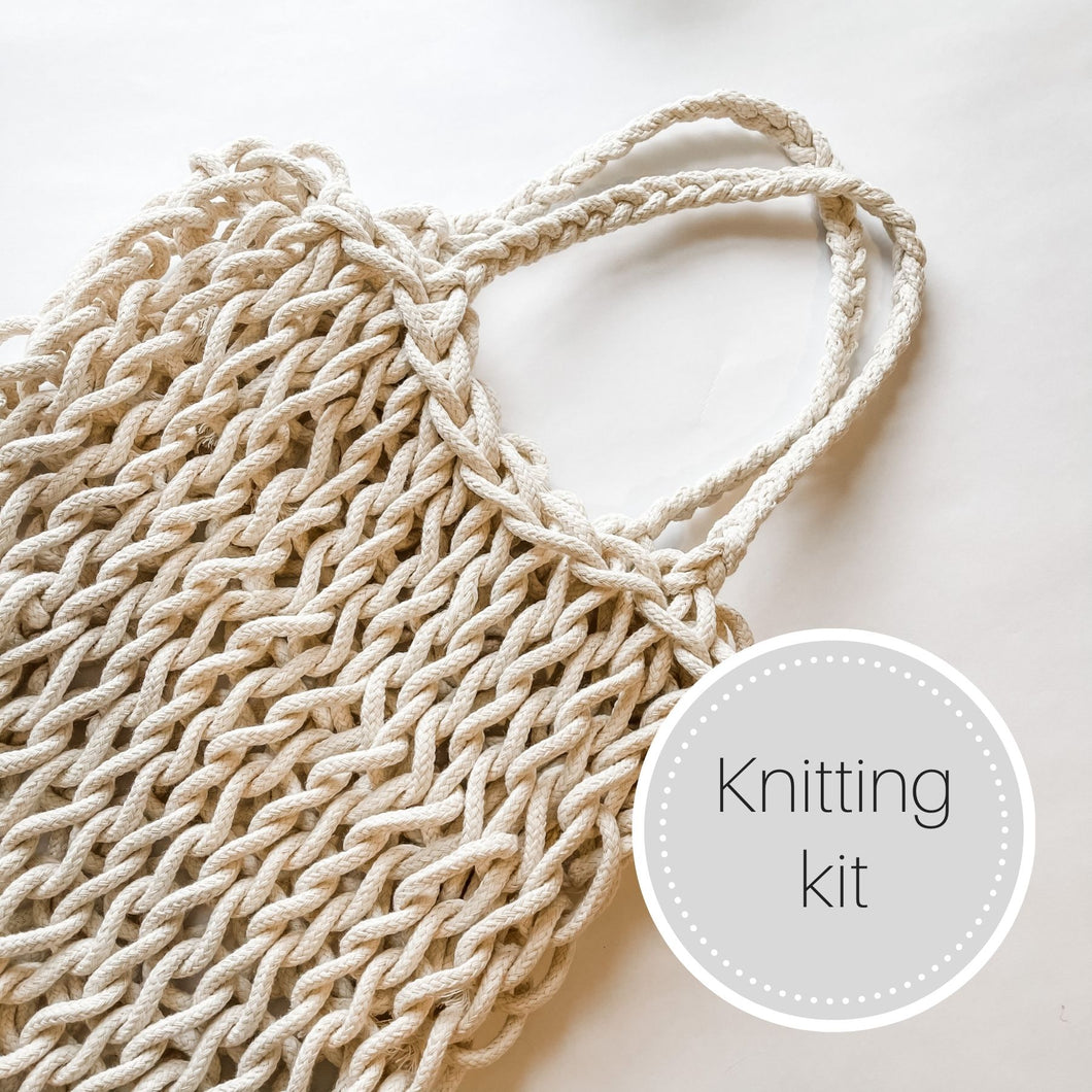 Knit market tote bag kit