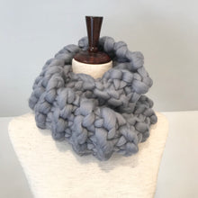 Load image into Gallery viewer, Chunky knit scarf kit with plastic needles