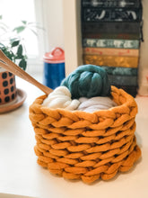 Load image into Gallery viewer, Discounted wood base for crochet baskets