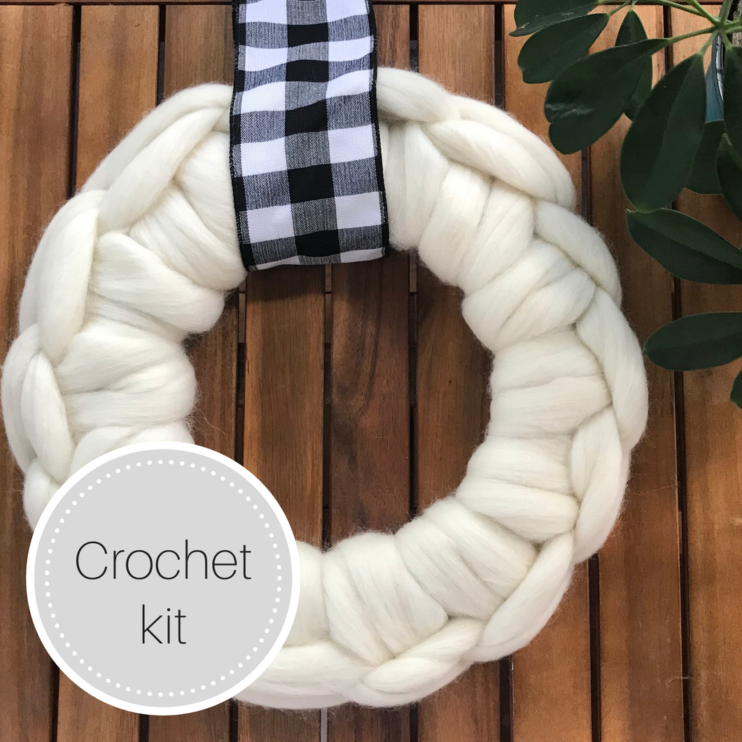 Crochet wreath kit