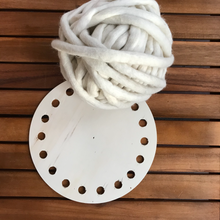 Load image into Gallery viewer, Wood base for crochet baskets