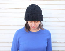 Load image into Gallery viewer, Knit beanie with folded brim - unisex knit hat